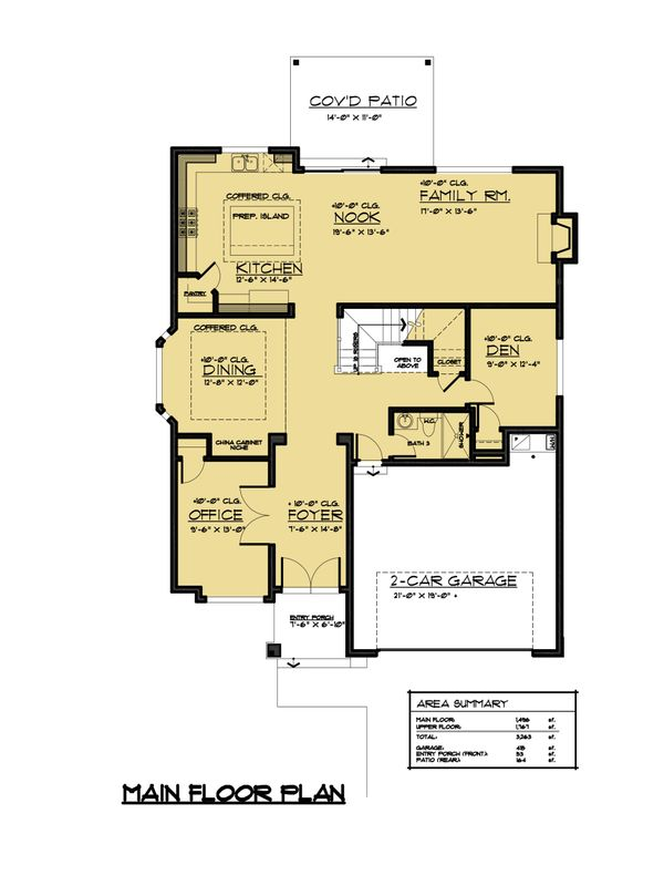 Traditional Floor Plan - Main Floor Plan Plan #1066-61