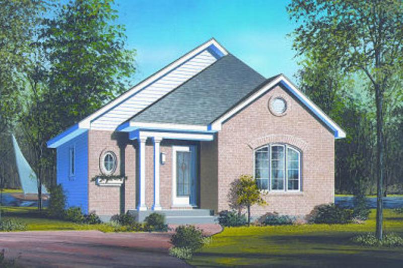 Modern Exterior - Front Elevation Plan #23-695 - Houseplans.com