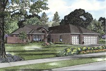 Architectural House Design - Traditional Exterior - Front Elevation Plan #17-3295