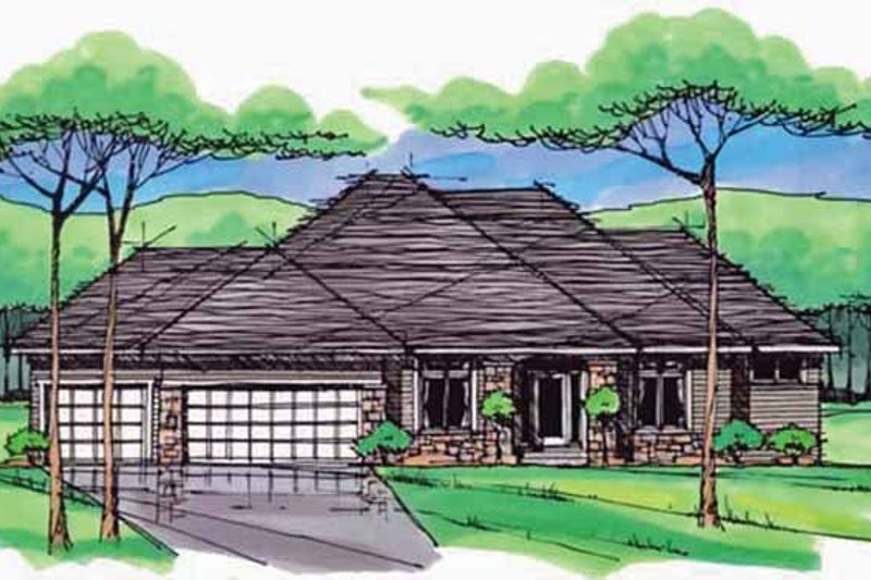 Country Exterior - Front Elevation Plan #51-978