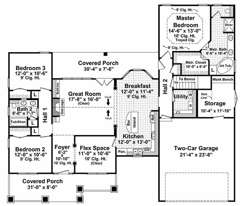 High Quality Craftsman Style House Plan, Main Level Floor Plan Home Design Ideas
