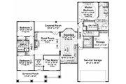 Craftsman Style House Plan - 3 Beds 2 Baths 1800 Sq/Ft Plan #21-247 Floor Plan - Main Floor Plan