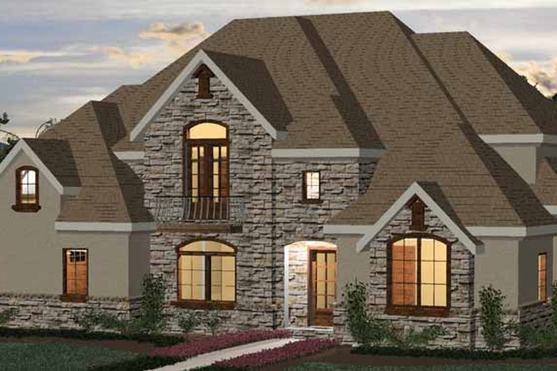 Country Exterior - Front Elevation Plan #937-10
