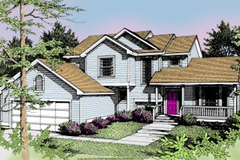 Traditional Exterior - Front Elevation Plan #94-217 - Houseplans.com