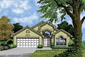 Architectural House Design - Mediterranean Exterior - Front Elevation Plan #417-624