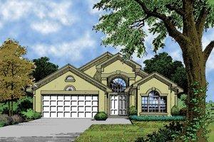 Architectural House Design - Mediterranean Exterior - Front Elevation Plan #417-624