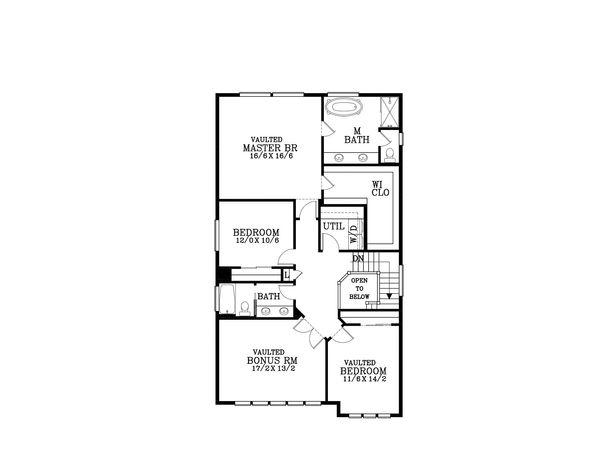 Craftsman Floor Plan - Upper Floor Plan Plan #53-587