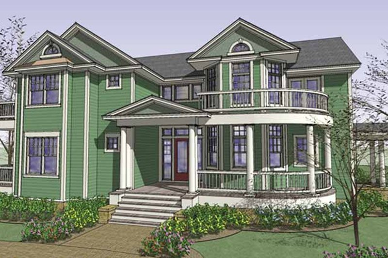Country Exterior - Front Elevation Plan #120-212 - Houseplans.com