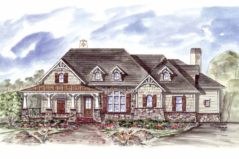 Craftsman Exterior - Front Elevation Plan #54-304 - Houseplans.com