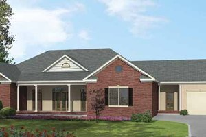 Ranch Exterior - Front Elevation Plan #1002-13