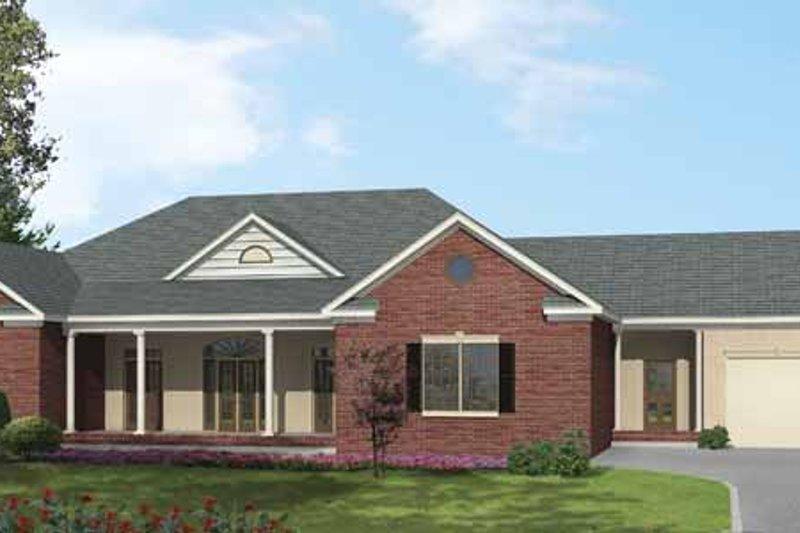 Ranch Exterior - Front Elevation Plan #1002-13 - Houseplans.com