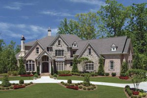 Architectural House Design - European Exterior - Front Elevation Plan #54-326