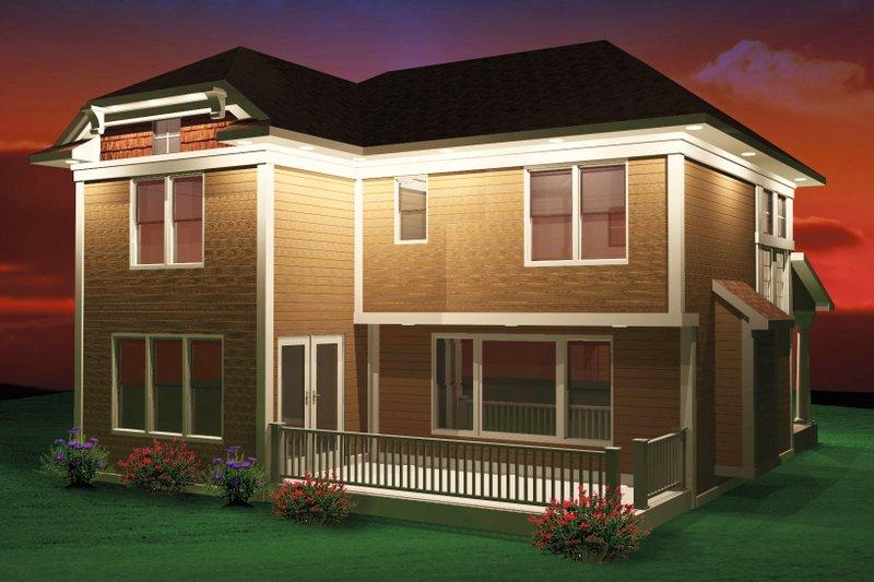Bungalow Exterior - Rear Elevation Plan #70-1069 - Houseplans.com