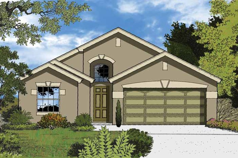 Country Exterior - Front Elevation Plan #1015-34