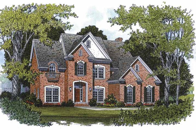 Traditional Exterior - Front Elevation Plan #453-139 - Houseplans.com