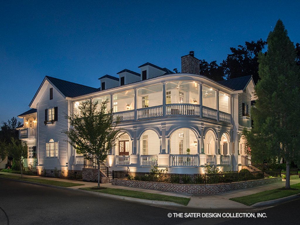 The Sater Design Collection classical style house plan - 3 beds 4.5 baths 4134 sq/ft plan #930-460