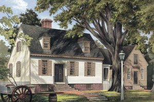 Colonial Exterior - Front Elevation Plan #137-344