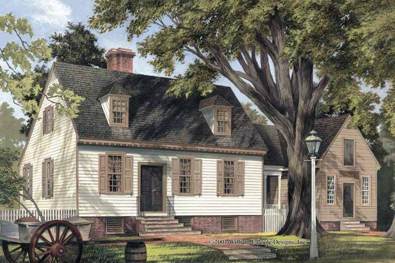 Colonial Exterior - Front Elevation Plan #137-344 - Houseplans.com