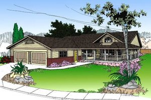 Home Plan Design - Country Exterior - Front Elevation Plan #60-148