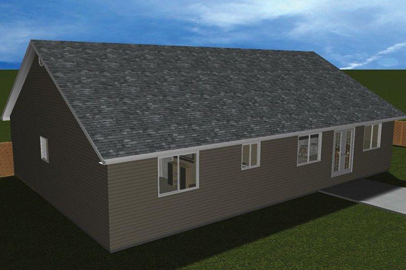 Ranch Exterior - Rear Elevation Plan #1060-14 - Houseplans.com