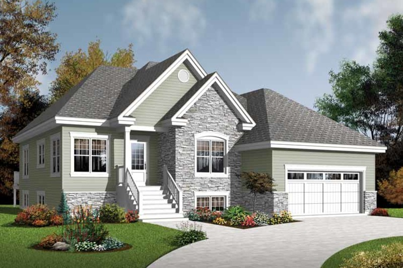Country Exterior - Front Elevation Plan #23-2526