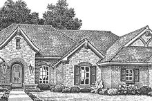 European Exterior - Front Elevation Plan #310-1257