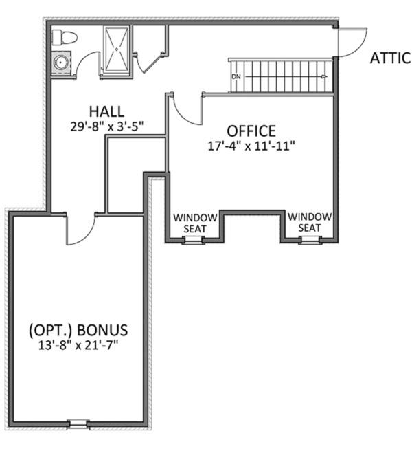 Colonial Floor Plan - Upper Floor Plan Plan #898-38
