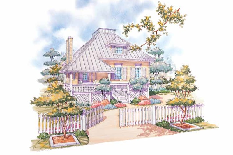 Country Exterior - Front Elevation Plan #930-29