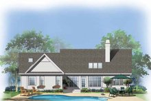 Dream House Plan - Country Exterior - Rear Elevation Plan #929-310