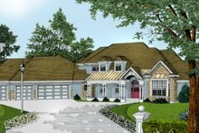 House Plan Design - European Exterior - Front Elevation Plan #100-206