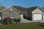 Traditional Style House Plan - 3 Beds 2 Baths 1972 Sq/Ft Plan #1060-45 Exterior - Front Elevation