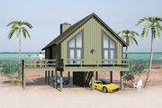Beach Style House Plan - 2 Beds 1 Baths 841 Sq/Ft Plan #81-13765