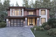 Contemporary Style House Plan - 5 Beds 4.5 Baths 4441 Sq/Ft Plan #1066-21 Exterior - Front Elevation