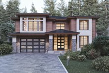 Contemporary Exterior - Front Elevation Plan #1066-21
