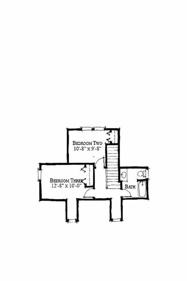 Cottage Style House Plan - 4 Beds 3 Baths 1970 Sq/Ft Plan #464-13 Floor Plan - Upper Floor Plan
