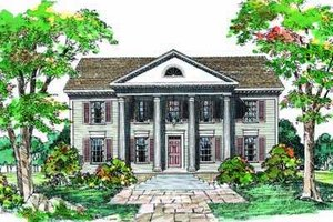 Southern Exterior - Front Elevation Plan #72-148