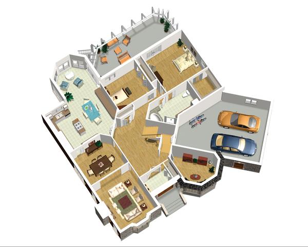 European Floor Plan - Main Floor Plan Plan #25-4695