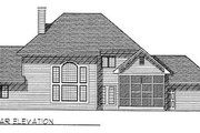 Traditional Style House Plan - 3 Beds 2.5 Baths 2650 Sq/Ft Plan #70-424 Exterior - Rear Elevation