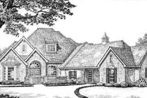 European Exterior - Front Elevation Plan #310-392