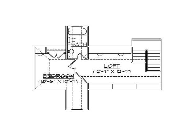 European Floor Plan - Upper Floor Plan #5-459