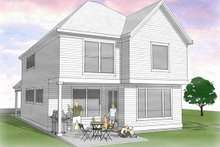 Country Exterior - Rear Elevation Plan #48-500