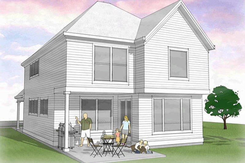 Country Exterior - Rear Elevation Plan #48-500 - Houseplans.com