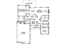 Traditional Floor Plan - Main Floor Plan Plan #124-885