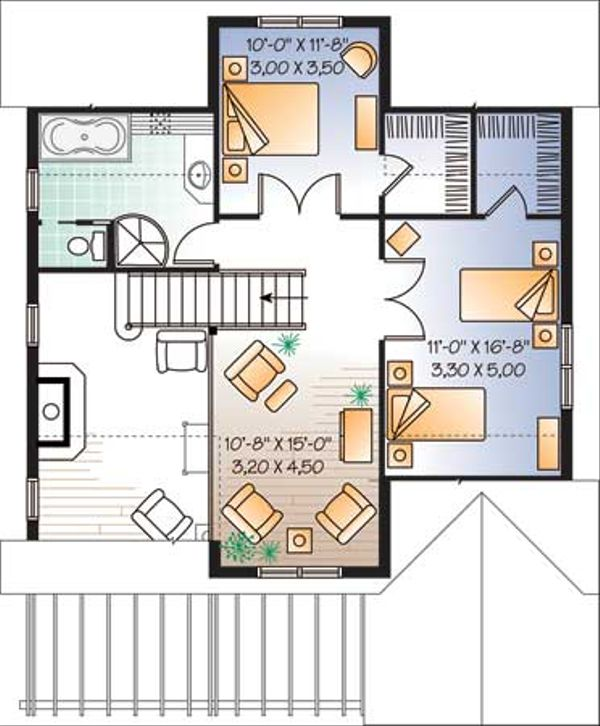House Plan Design - Traditional Floor Plan - Upper Floor Plan #23-2174