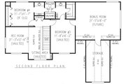 Country Style House Plan - 4 Beds 2.5 Baths 2389 Sq/Ft Plan #11-222 Floor Plan - Upper Floor Plan