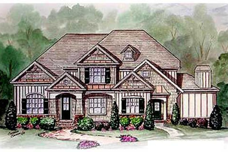 Traditional Style House Plan - 4 Beds 3.5 Baths 2994 Sq/Ft Plan #54-113 Exterior - Other Elevation