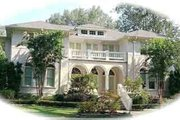 Mediterranean Style House Plan - 5 Beds 3.5 Baths 5908 Sq/Ft Plan #81-648 Exterior - Front Elevation