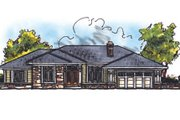Traditional Style House Plan - 3 Beds 2.5 Baths 1906 Sq/Ft Plan #70-236 Exterior - Front Elevation