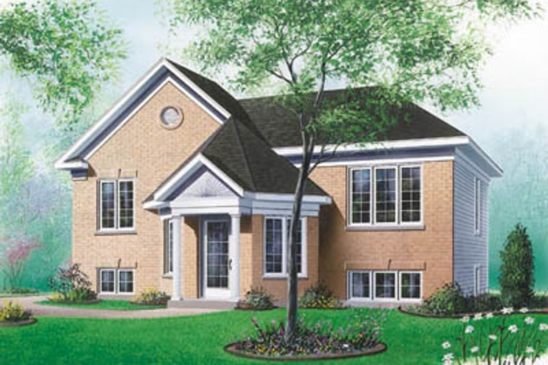 European Exterior - Front Elevation Plan #23-310 - Houseplans.com