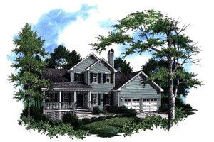 House Plan Design - Traditional Exterior - Front Elevation Plan #41-169